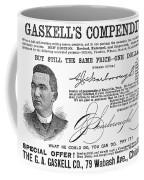 Penmanship Ad, 1887 Coffee Mug