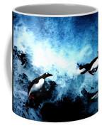Penquin Joy Play  In Huge Waves Coffee Mug