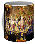 People Offering Prayers At The Iskcon Temple In Delhi Coffee Mug
