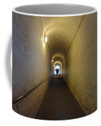 People Starting To Walk Down A Tunnel In Dover Castle Coffee Mug