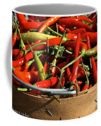 Peppers And More Peppers Coffee Mug by Susan Herber