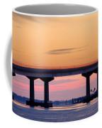 Perdido Bridge Sunrise Closeup Coffee Mug