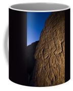 Petroglyphs Are Seen At Twilight Coffee Mug