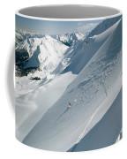 Phil Atkinson Skiing The Dogtooth Range Coffee Mug