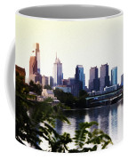 Philadelphia From The Banks Of The Schuylkill River Coffee Mug
