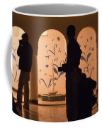 Photographers In Silhouette At A Heritage Building In Rajasthan In India Coffee Mug