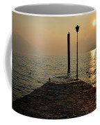 Pier And Sunset Coffee Mug
