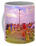 Pier Fishing Coffee Mug
