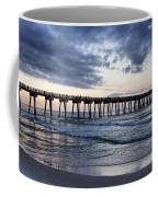 Pier In The Evening Coffee Mug by Sandy Keeton
