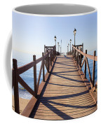 Pier On Costa Del Sol In Marbella Coffee Mug