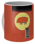 Pig On A Wall Coffee Mug