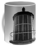 Pigeon Point Lighthouse Beacon - Black And White Coffee Mug