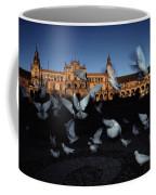 Pigeons Flutter Above The Plaza De Coffee Mug
