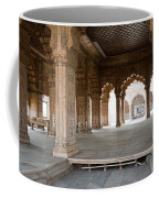 Pillars Of Building Inside Red Fort Coffee Mug