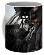 Pilot In The Cockpit Of A Uh-60l Coffee Mug