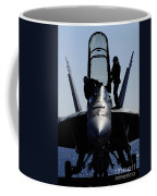 Pilots Conducts A Pre-flight Inspection Coffee Mug