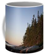 Pine Trees Along The Rocky Coastline Coffee Mug by Hannele Lahti
