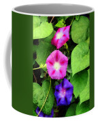 Pink And Purple Morning Glories Coffee Mug