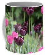 Pink And Purple Tulips Coffee Mug