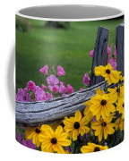 Pink And Yellow Flowers Coffee Mug
