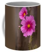 Pink Flowers And Wood  Coffee Mug