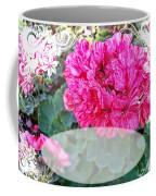 Pink Geranium Greeting Card Blank Coffee Mug