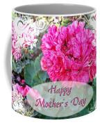 Pink Geranium Greeting Card Mothers Day Coffee Mug
