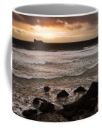 Pink Granite Coast At Sunset Coffee Mug