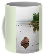 Pink Granite In Jordan Pond At Acadia Coffee Mug by Steve Gadomski