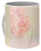 Pink Hydrangea Flowers In White Vase Coffee Mug