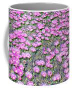 Pink Ice Plant Flowers Coffee Mug