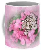 Pink Lace Cap Hydrangea Flowers Coffee Mug