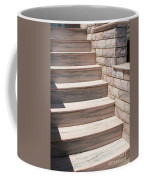 Pink Marble Staircase In Patmos Greece Coffee Mug