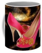 Pink Peeptoe Pumps With Swarovski Crystals Coffee Mug