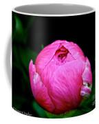 Pink Peony Bud Coffee Mug