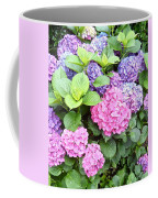 Pink Purple Hydrangeas Coffee Mug