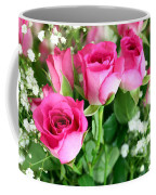 Pink Roses And Gypsophila Bouquet Coffee Mug