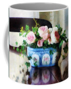 Pink Roses And Ivy Coffee Mug