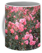 Pink Roses Canvas Coffee Mug
