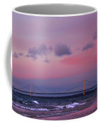 Pink Sunset Over Mackinac Michigan Coffee Mug