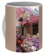 Pink Umbrella And Garlic Coffee Mug