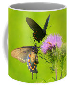 Pipevine Swallowtails In Tandem Coffee Mug