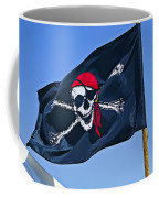Pirate Flag Skull With Red Scarf Coffee Mug