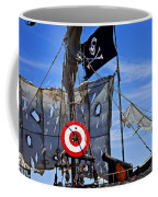 Pirate Ship With Target Coffee Mug