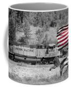 Pirates And Trains Black And White Coffee Mug