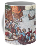 Pirates Burn Havana, 1555 Coffee Mug by Photo Researchers