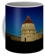 Pisa Tower And Baptistery Cathedral Coffee Mug