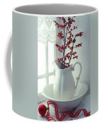 Pitcher With Red Berries  Coffee Mug