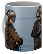 Plane Captains Stand By During Aircraft Coffee Mug