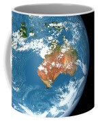 Planet Earth Showing Clouds Coffee Mug